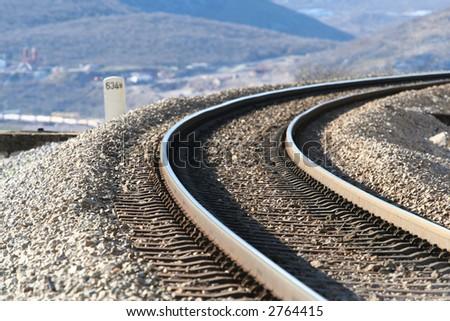 railway twist - stock photo