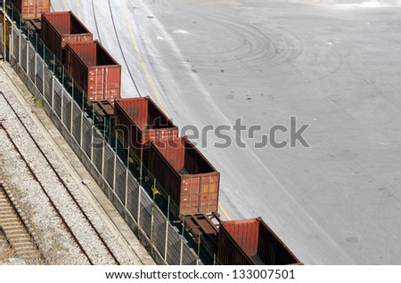 Railway wagons - stock photo