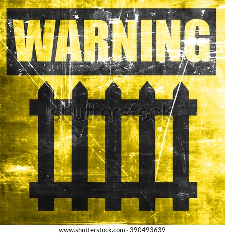 Railway warning sign - stock photo