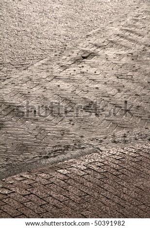 rain and hail - stock photo