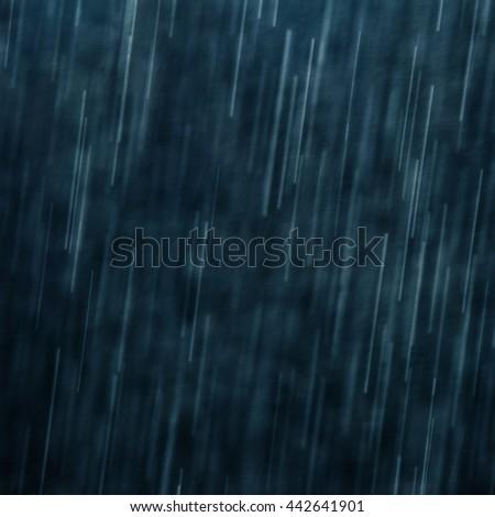Rain at night - stock photo