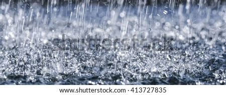 rain close up in detail - stock photo