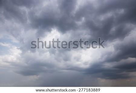 rain cloud - stock photo