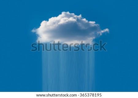 Rain cloud in the sky - stock photo