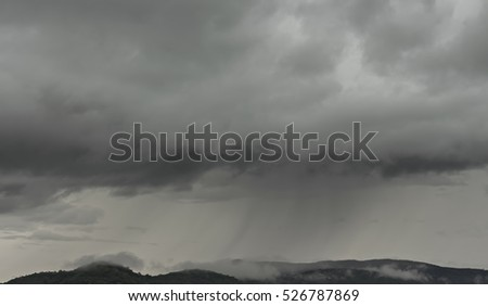 Rain clouds background