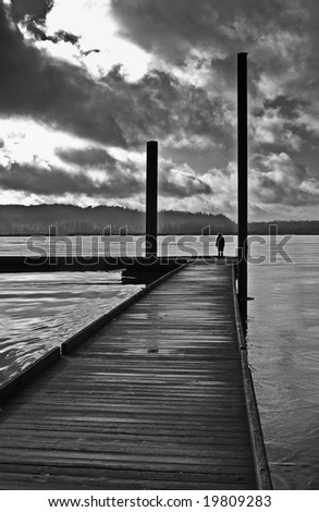 Rain Clouds Over the Columbia River