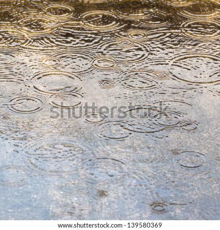 rain drop like as a circle - stock photo