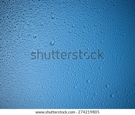 rain drop on the mirror - stock photo