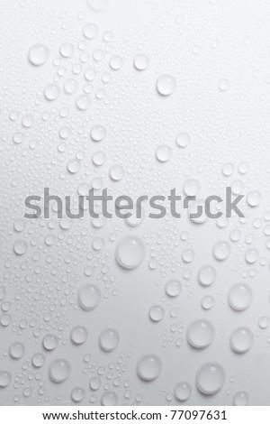 Rain drop on white background - stock photo