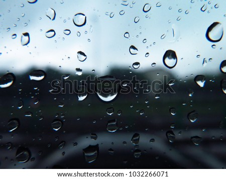 Rain drop on window background