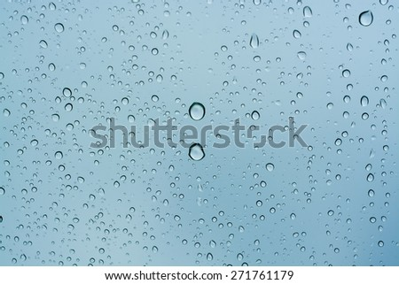 Rain drops background, water raindrop - stock photo