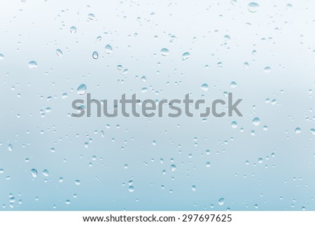 rain drops on the glass window - stock photo