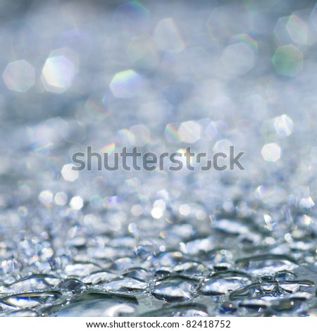Rain drops - sparkling background - stock photo
