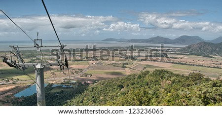 Rain Forest aerial view in Northern Queensland, Australia - stock photo