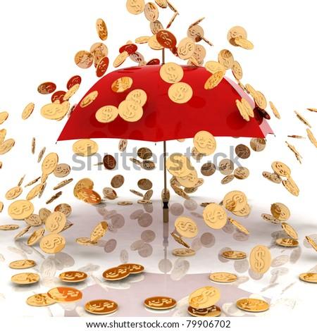 rain from chinks - stock photo