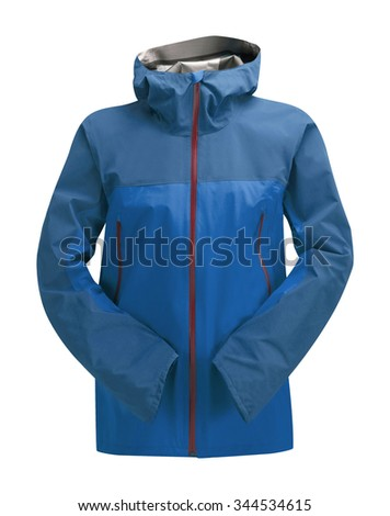 Rain Jacket Blue isolated