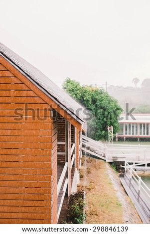 Rain on the roof, Blur background