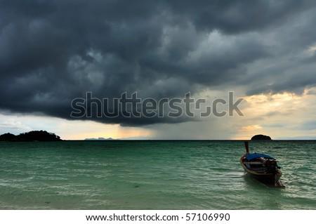 Rain storm coming - stock photo