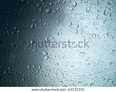 Rain Water drop on car background