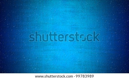 rain water drops on blue abstract background - stock photo