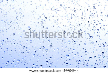 Rain water drops on windows glass - stock photo