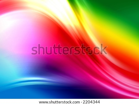 rainbow abstract composition - stock photo