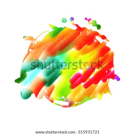 Rainbow abstract stain isolated on a white background for your design.