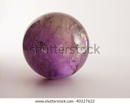 Rainbow amethyst ball - stock photo