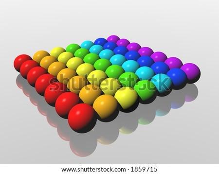 rainbow balls - stock photo