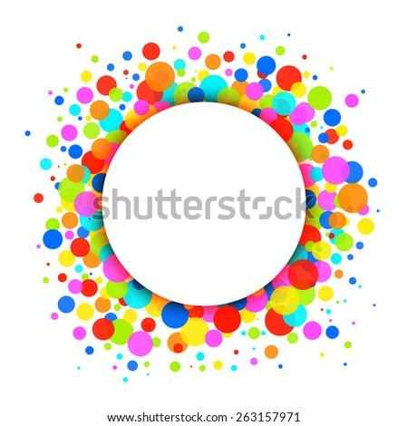Rainbow Bright Celebration Holiday Frame Background - stock photo