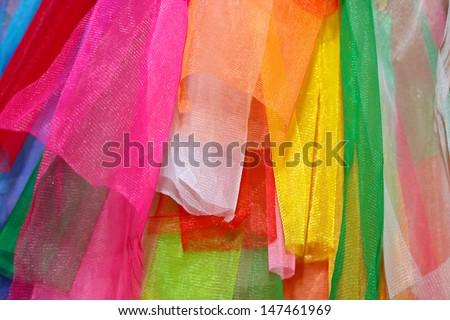 Rainbow clothes background. - stock photo