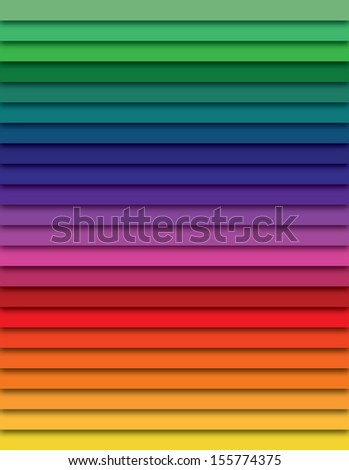 Rainbow color lines, spectrum - stock photo