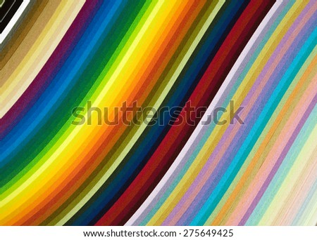 rainbow, colored paper, multicolor background - stock photo