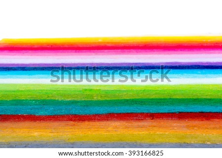 rainbow colors are painted as stripes