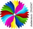 Rainbow colors circle illustration. - stock photo