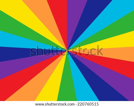 Rainbow Colors - Starburst - stock photo