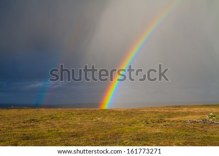 rainbow in iceland - stock photo