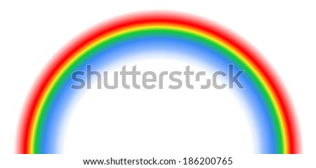 Rainbow isolated on white background. For eps file look id:32918107