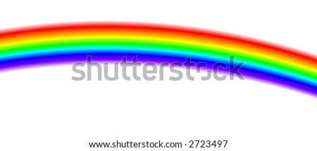 Rainbow isolated on white.Great colours