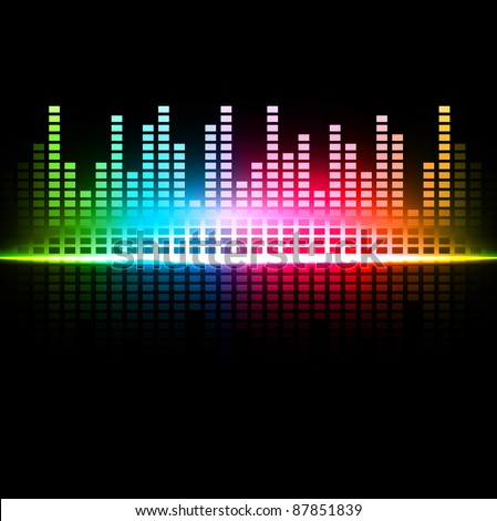 Rainbow multicolored abstract sound background