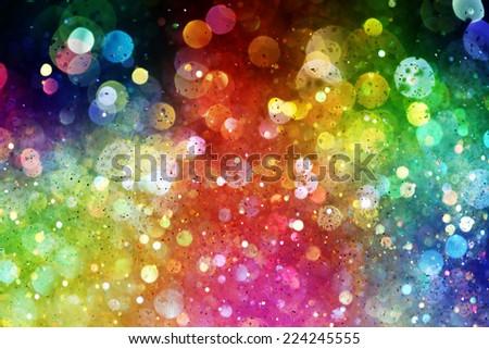 Rainbow of lights - stock photo