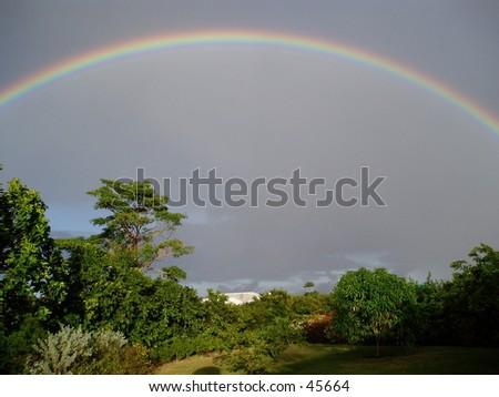 Rainbow on the West Coast - stock photo