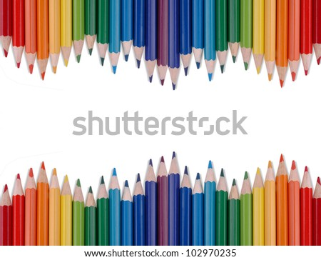 Rainbow Pencils - stock photo