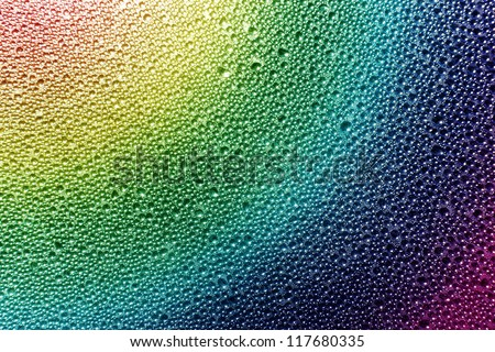 Rainbow Raindrops - stock photo