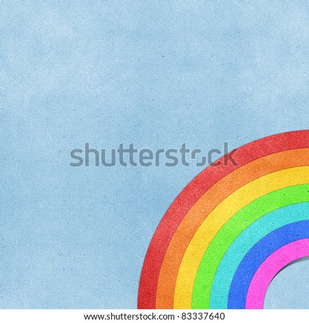 rainbow recycled papercraft background - stock photo