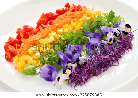 rainbow salad - stock photo