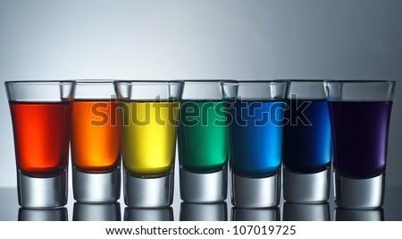 Rainbow Shots - stock photo