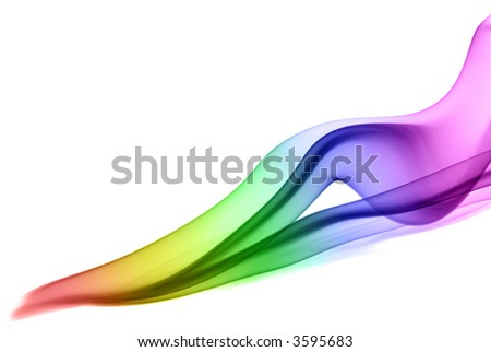 Rainbow smoke isolated on white