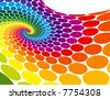 Rainbow Spiral Wave - stock vector