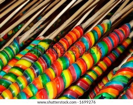Rainbow suckers - stock photo